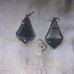Kendra Scott Gray Slate Alex Earrings